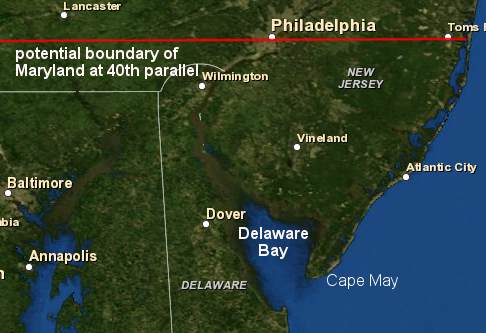 delaware bay and the southern 1 3 of new jersey could have been part of