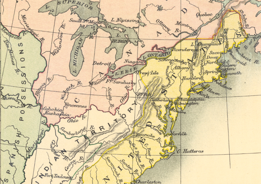 Treaty Of Paris Map 1783.Virginia S Cession Of The Northwest Territory