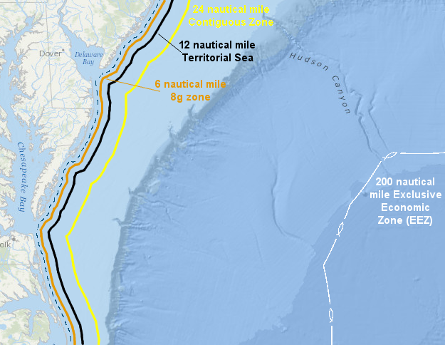 significant offshore boundaries beyond the three mile boundary