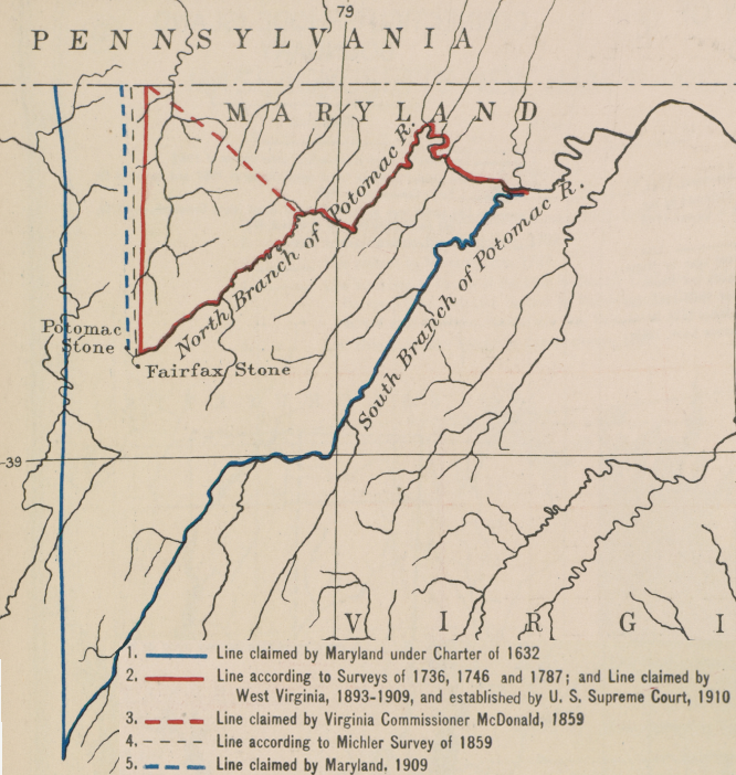 Maryland Sought To Define The South Branch Of The Potomac River As The Boundary For Its