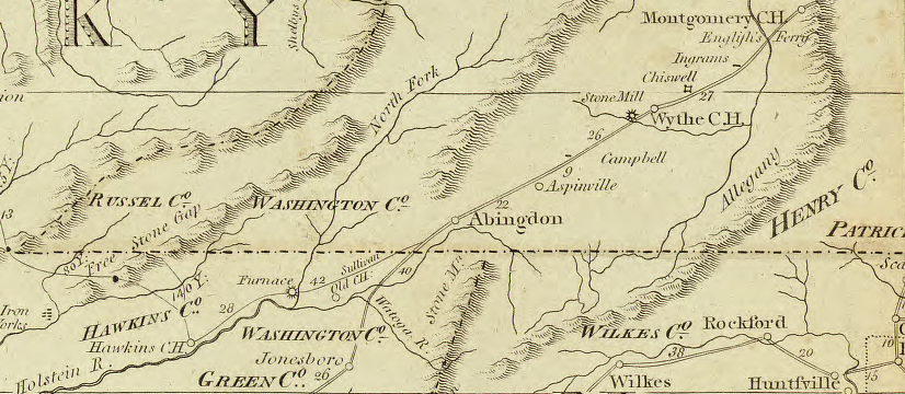 Map Of Virginia And Tennessee Virginia Tennessee Boundary