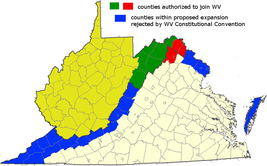 Map Of Virginia And West Virginia Together.Virginia West Virginia Boundary
