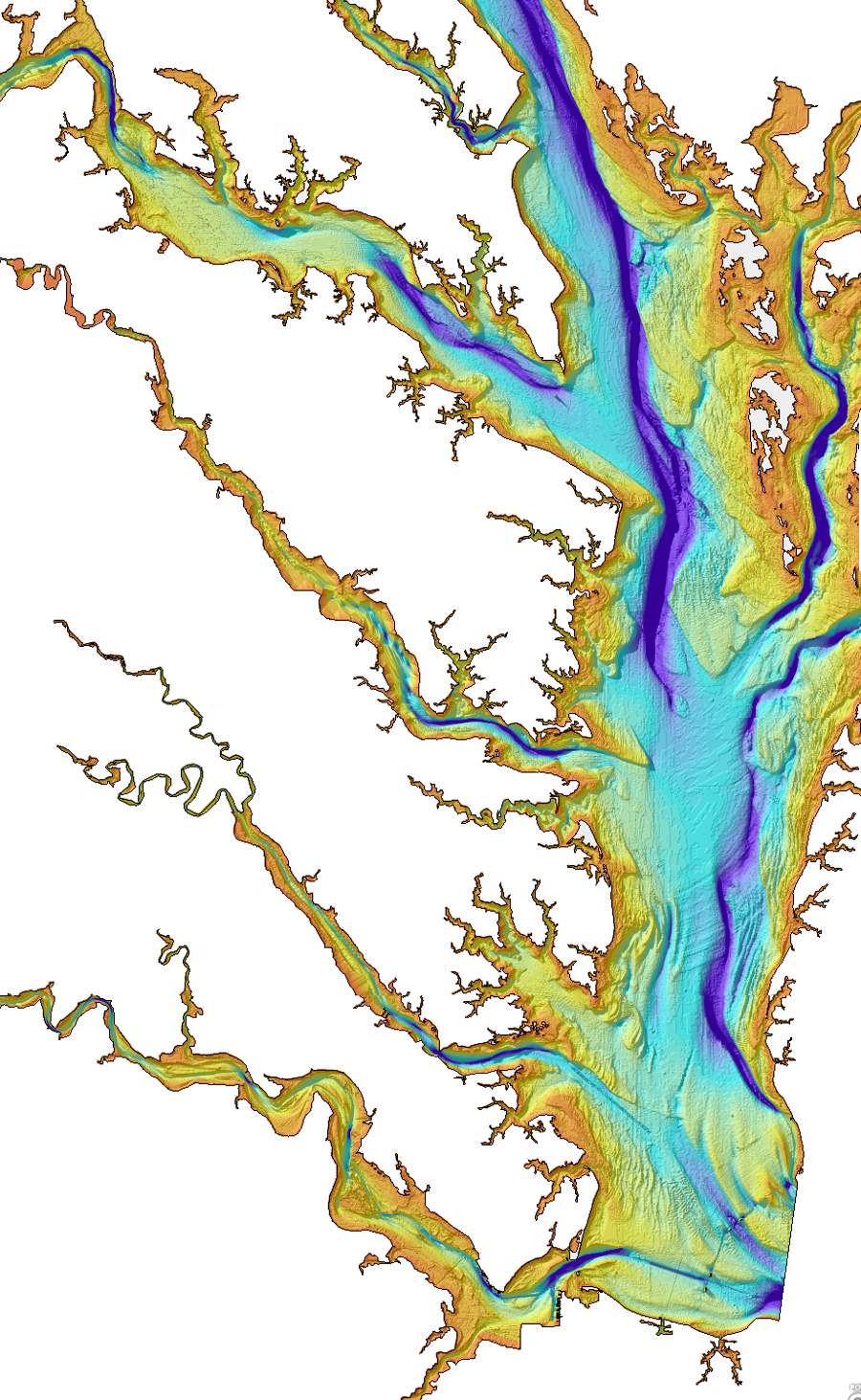 Bathymetry Of The Chesapeake Bay