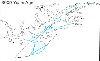 Former Shape Of Susquehanna River Valley Before Sea Level Rise Created Chesapeake Bay