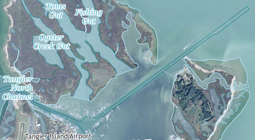 Tangier Island Virginia Map.Tangier Island
