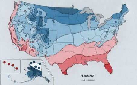 Climate of virginia the minimum temperature in november march show how hampton roads stays warmer thanks to gumiabroncs Gallery