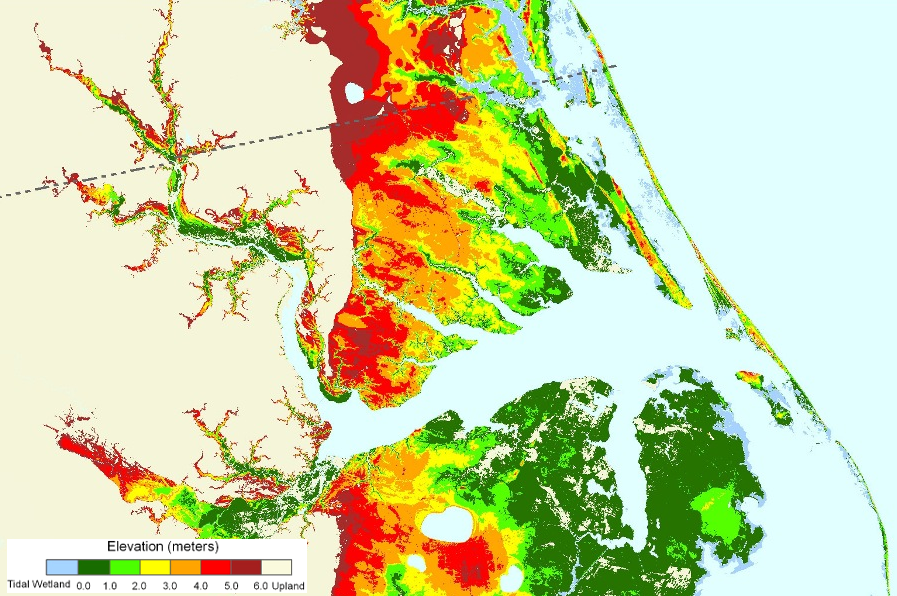 The Coast In Southeastern Virginia And North Carolina Is Vulnerable To Flooding As Sea Level Rises