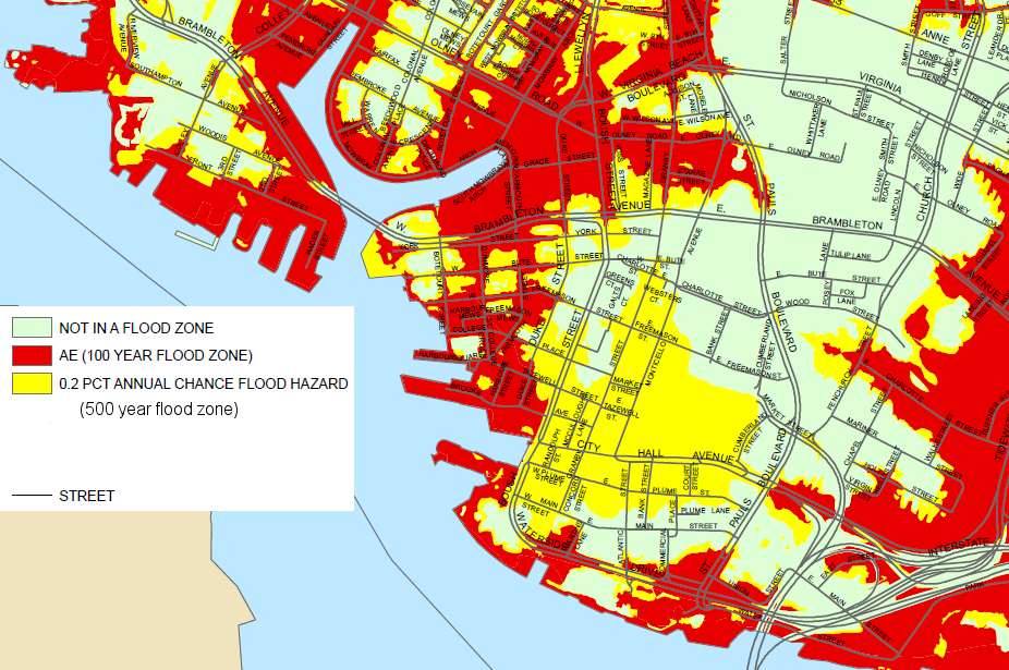 Will Norfolk And The Rest Of Hampton Roads Drown - Historic fema flood maps