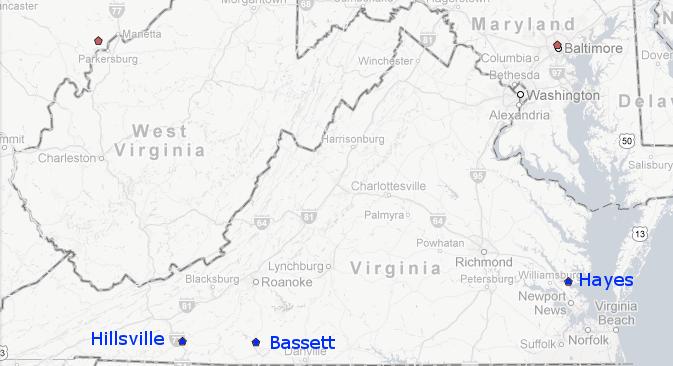 Hayes Virginia Map.Biofuels In Virginia