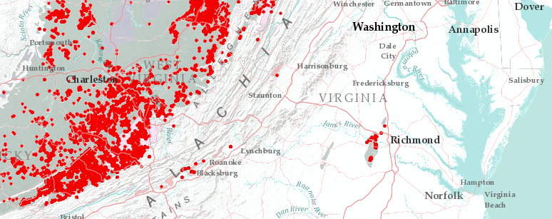 abandoned mine lands in virginia include coal mines near richmond harrisonburg and blacksburg