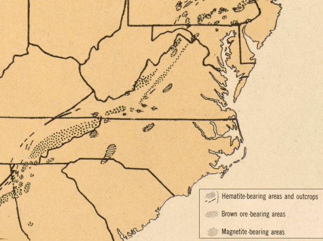 Iron In Colonial Virginia - Us iron ore deposits map