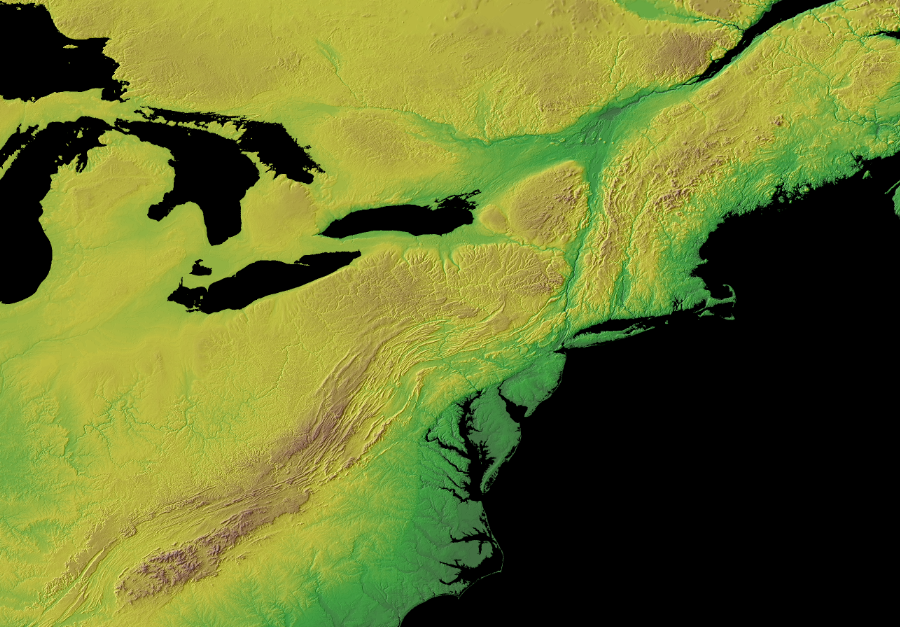 The North American Tectonic Plate Has Not Eroded To A Flat Peneplain Since Pangea Broke Up