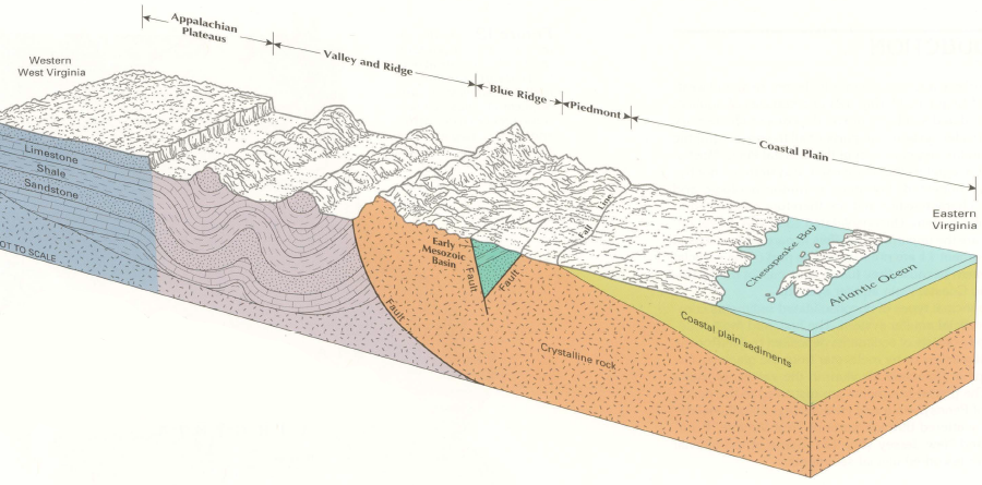 Rocks and Ridges - The Geology of Virginia