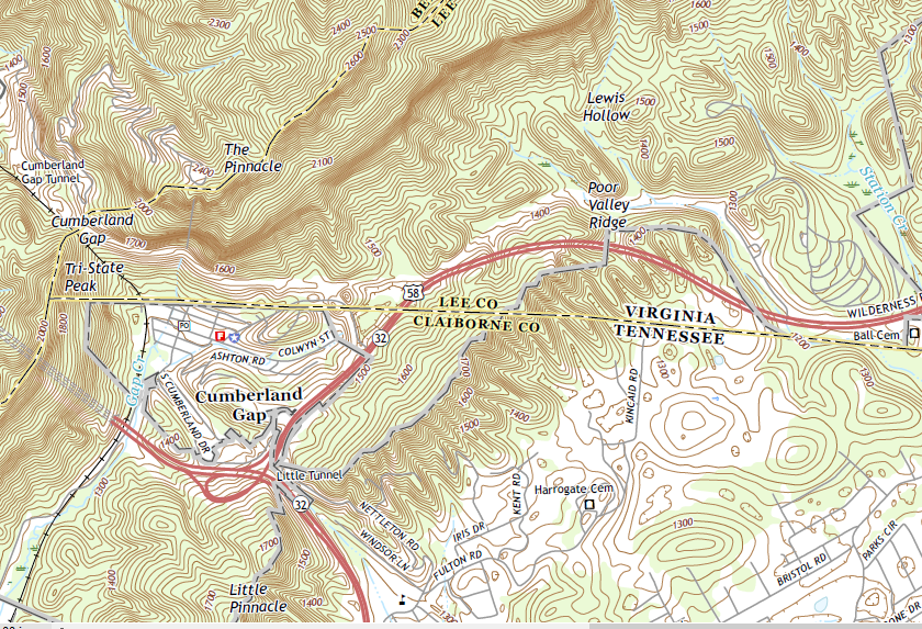 Get Familiar With The Brown Lines On The Topographic Maps - Appalachian trail topo map