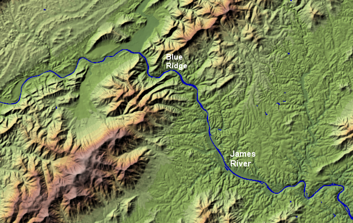 Relief Map Of Virginia.Relief Map Of Virginia