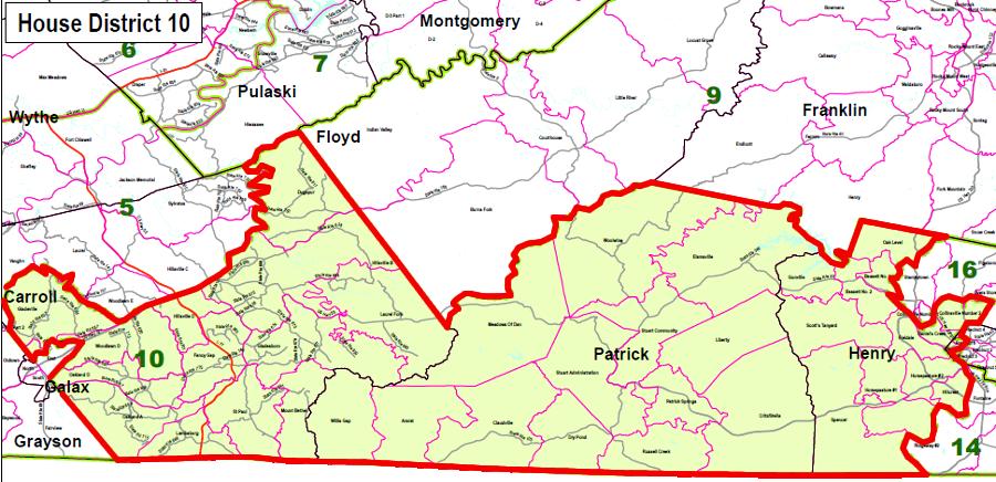 Redistricting In Virginia - Us delegate map