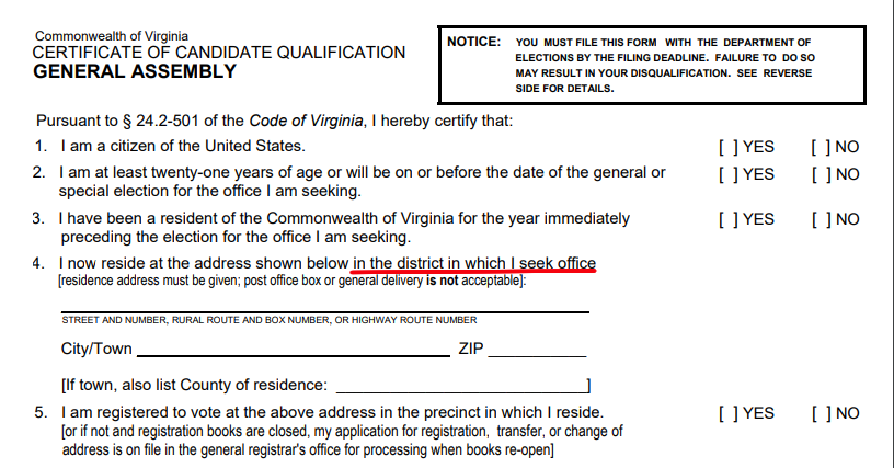 Redistricting in Virginia