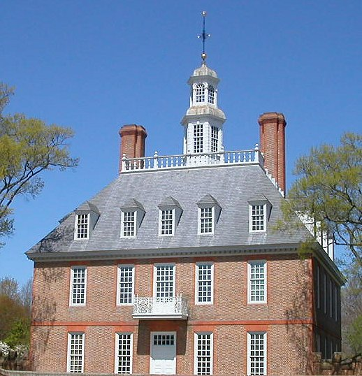 reconstructed Governors Palace at Williamsburg