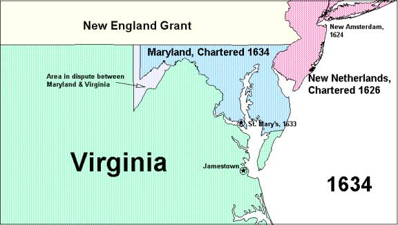 A Third Major Reduction Occurred In 1663 In That Year King Charles Ii Of England Issued A Colonial Grant For Carolina It Included The Portion Of Virginia