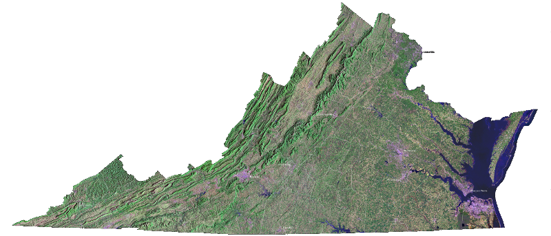 LANDSAT image of Virginia