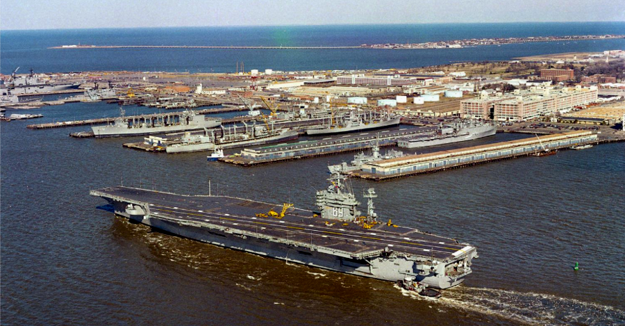 The Norfolk Naval Base Was Established In World War I As The Home Of The Atlantic