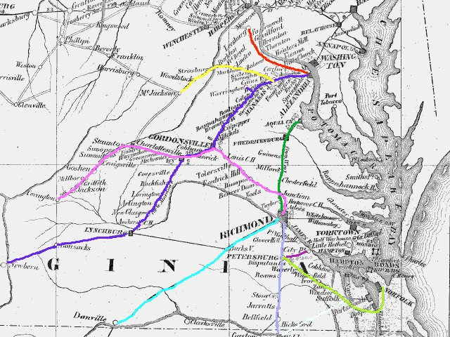 Virginia Railroads at the Start of the Civil War