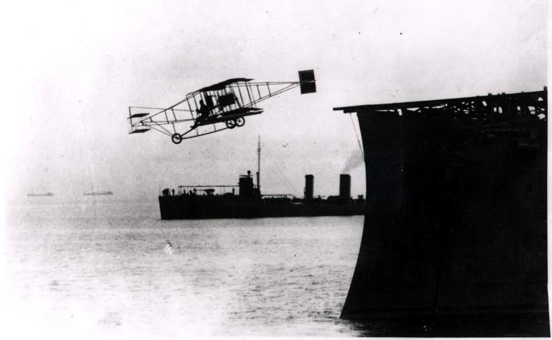 First Take Off Of An Airplane From A Ship Occurred In 1910 With A Launch