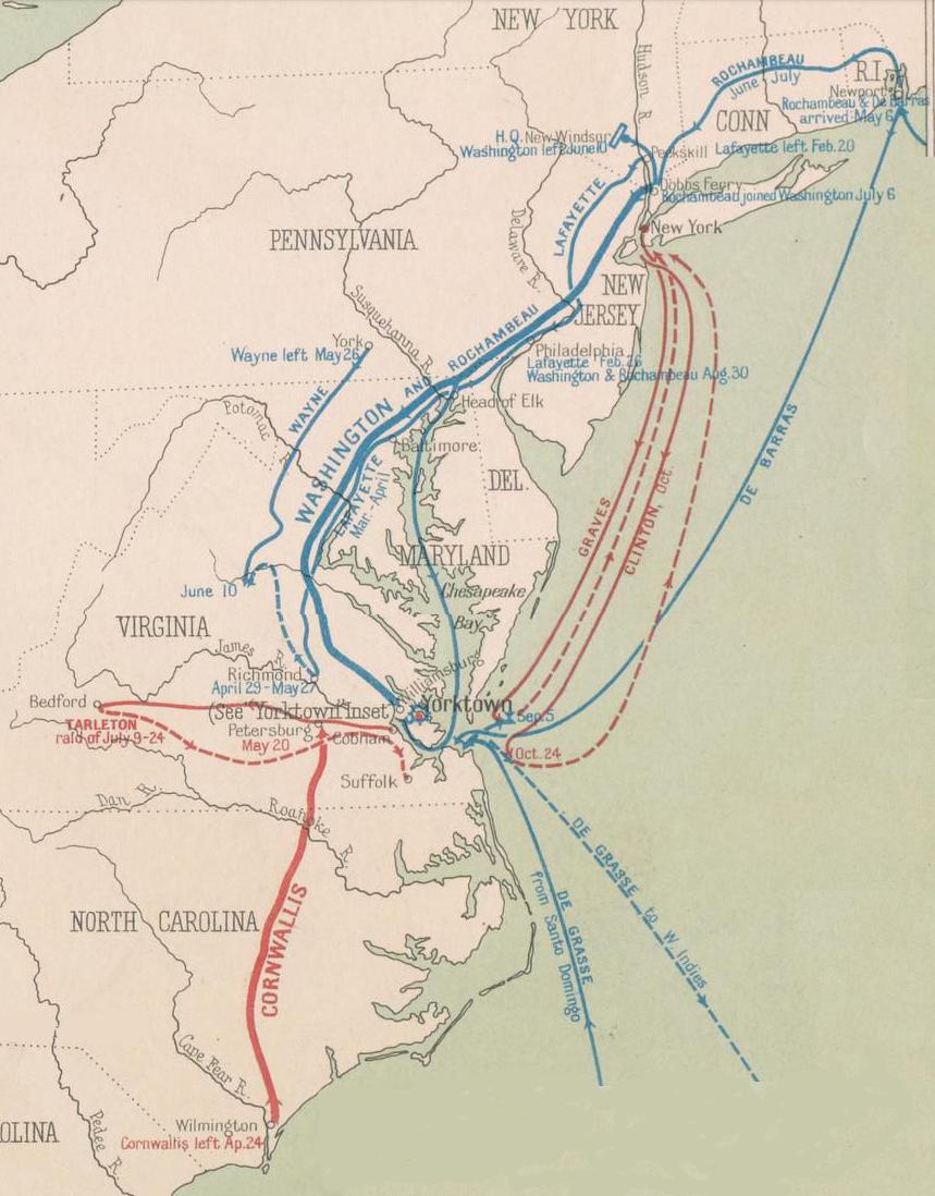 The Revolutionary War In Virginia - Map of us after revolutionary war