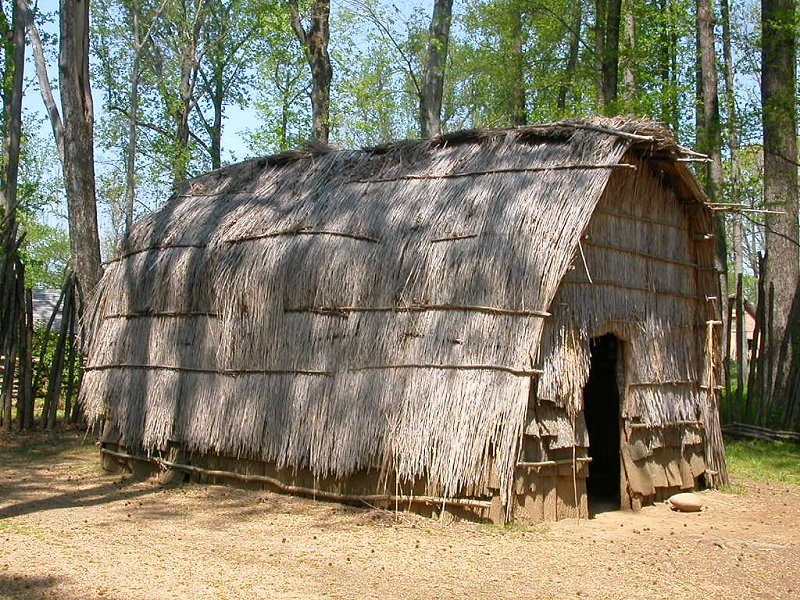 Reed Covered Dwelling Structure Recreated To Represent Algonquian Speaking Appomattoc In The Coastal Plain