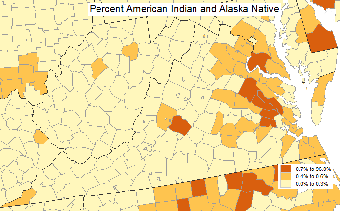 Where are the native americans in virginia today the virginia jurisdictions with the highest percentage of native americansalaskan natives in their population sciox Images