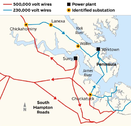 Energy Transmission In The United States Projects Overview How - Jamestown on us map
