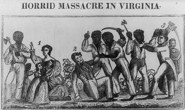 contemporary graphic of Nat Turner's Rebellion described it as a massacre