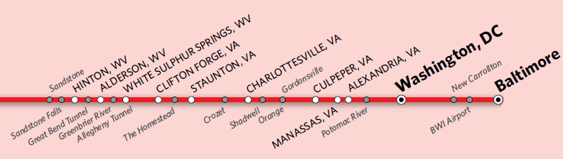 Amtrak in Virginia