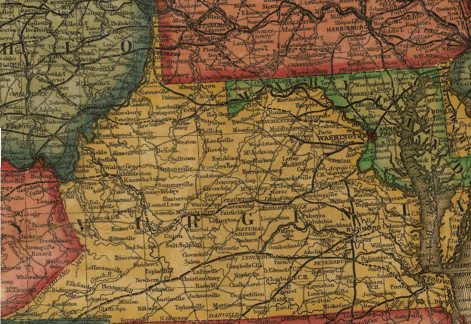 railroads in Virginia 1855 Railroads of Virginia
