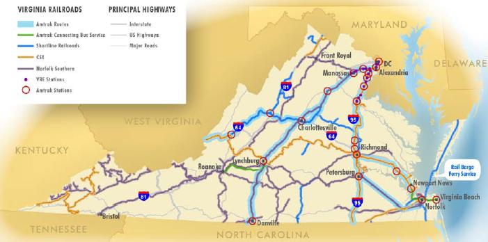 Map Of Georgia Railroads.Railroads Of Virginia