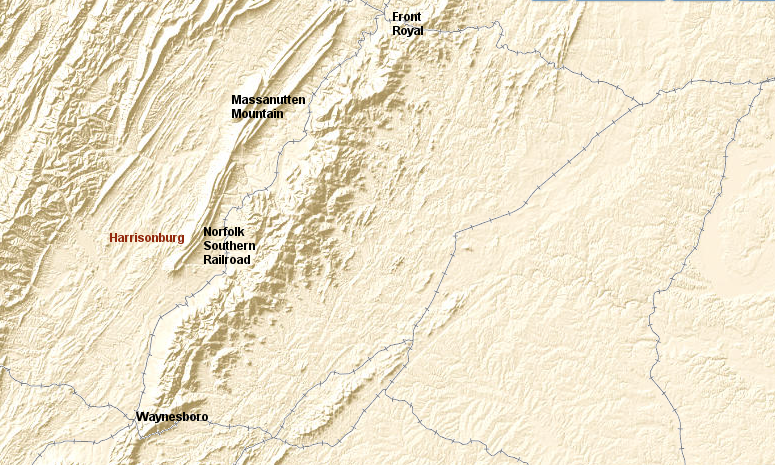 Railroads of the Shenandoah Valley and Why Isnt Harrisonburg on
