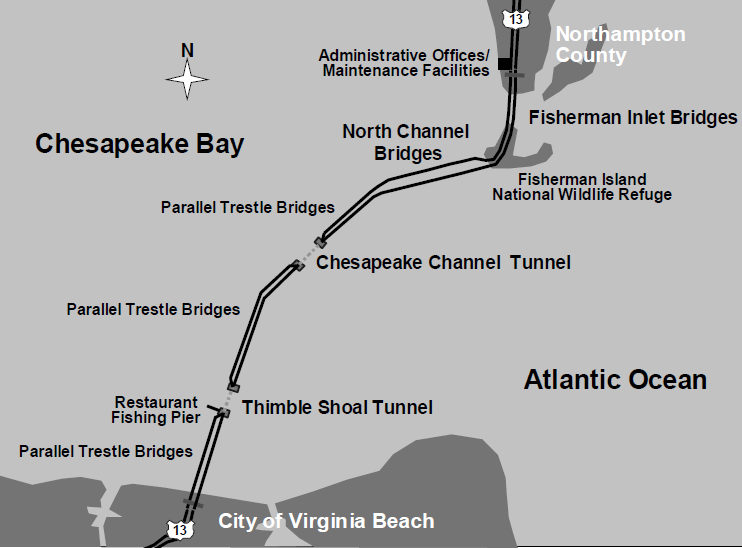 The Chesapeake Bay Bridge Tunnel Replaced 2 Hour Ferry Services With A 30