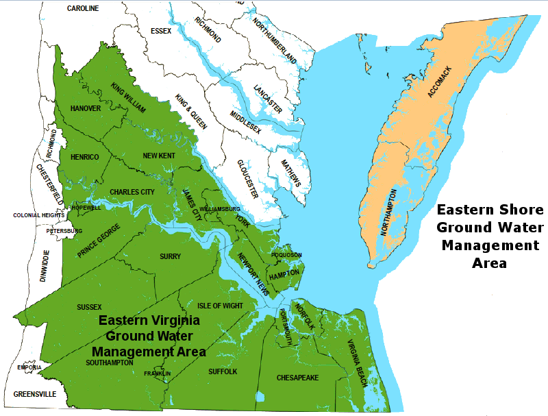 Ground Water Management Areas in Virginia