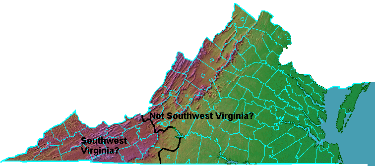 Southwest Virginia Geography Of Virginia - Virginia physical map