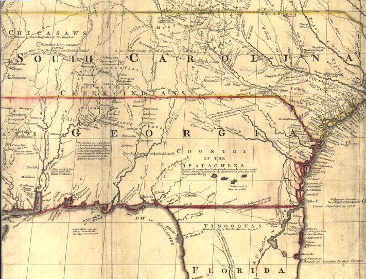 Map Of Georgia 1700.Spanish Exploration And Settlement In The Southeast