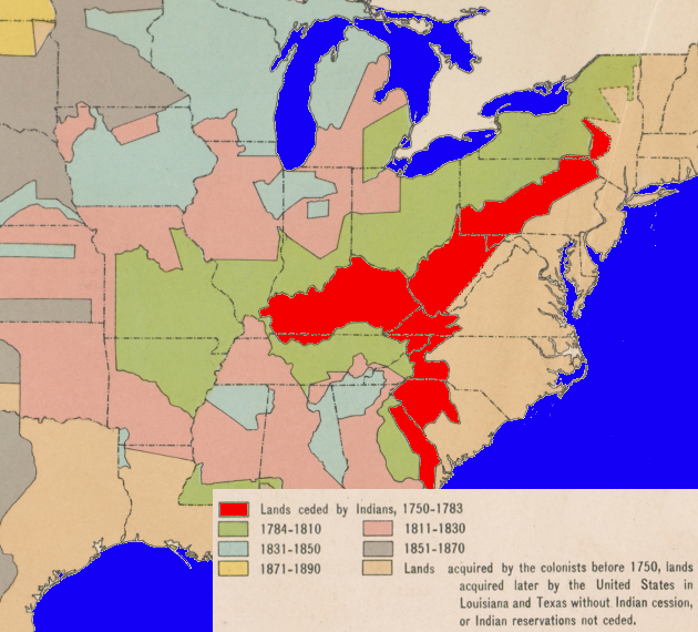 Key Treaties Defining The Boundaries Separating English And Native - Us land acquisition map