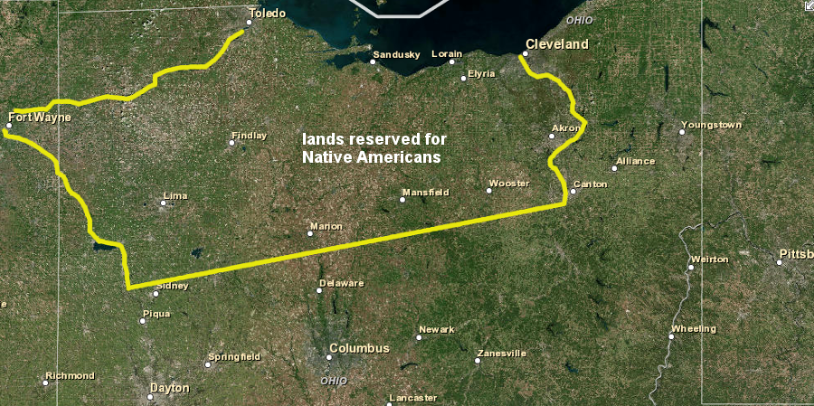 What was the southern boundary of the Northwest Territory?