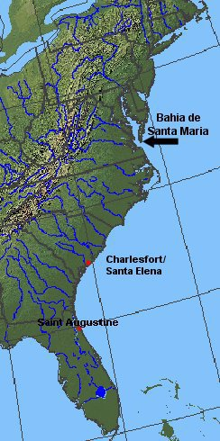 the Spanish sought to block rivals from areas north of St. Augustine, Florida