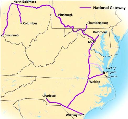 Railroad Access And Hampton Roads Shipping Terminals - Csx railroad map