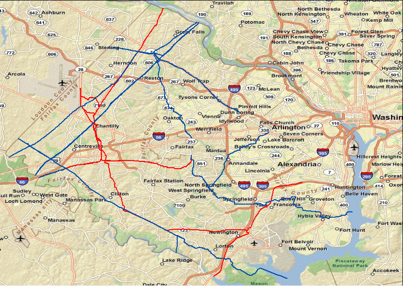 Natural Gas Pipelines In Virginia - Us pipeline 1950 map