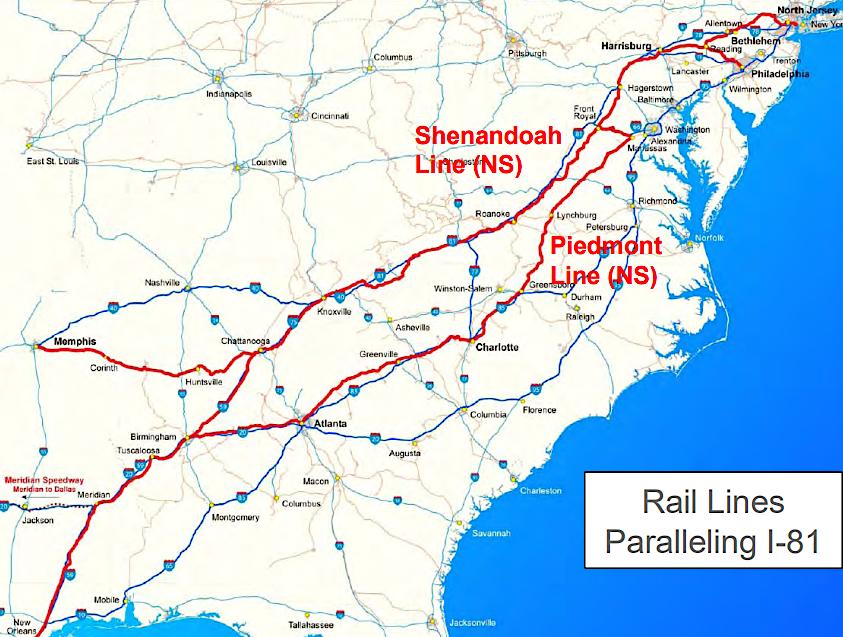 rt 81 virginia map Interstate 81 I 81