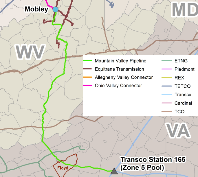 The Proposed Mountain Valley Pipeline To Connect Marcellus And Utica Natural Gas Supply To Markets