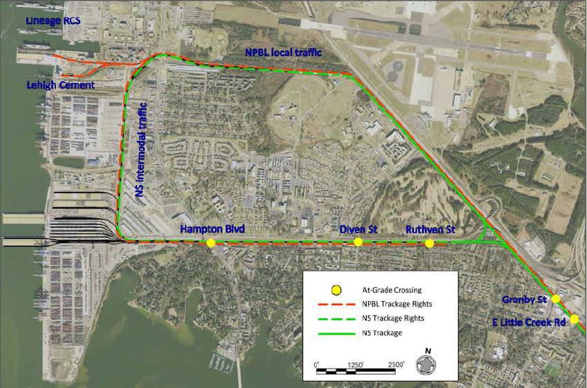 Railroad Access and Hampton Roads Shipping Terminals