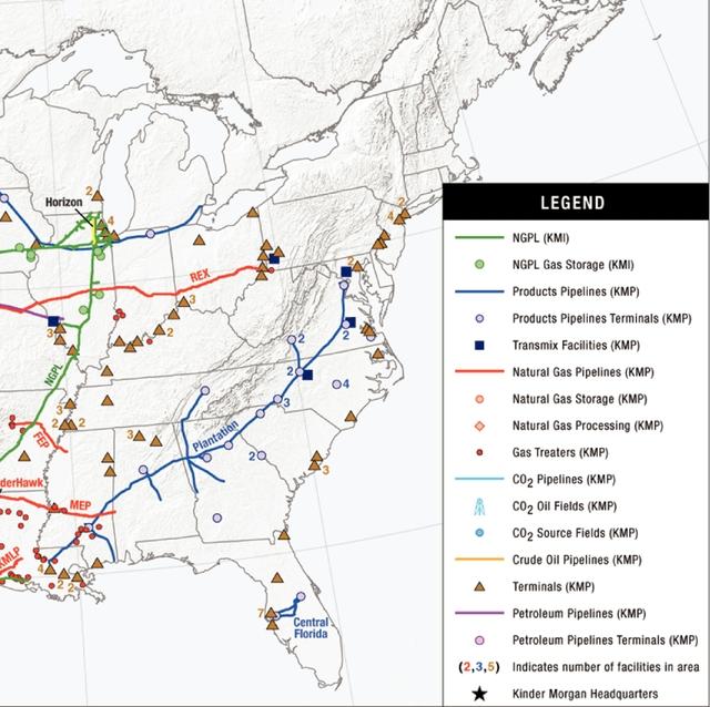 Oil Pipelines In Virginia - Map of us pipeline system