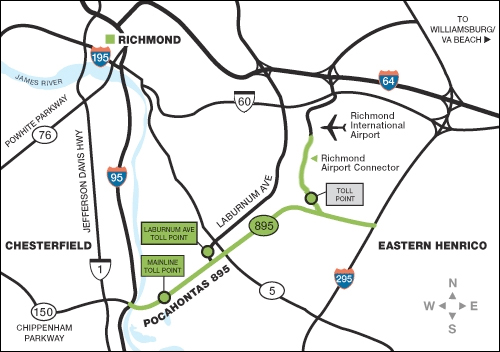 Pocahontas Parkway (Route 895) - The Toll Road That Failed